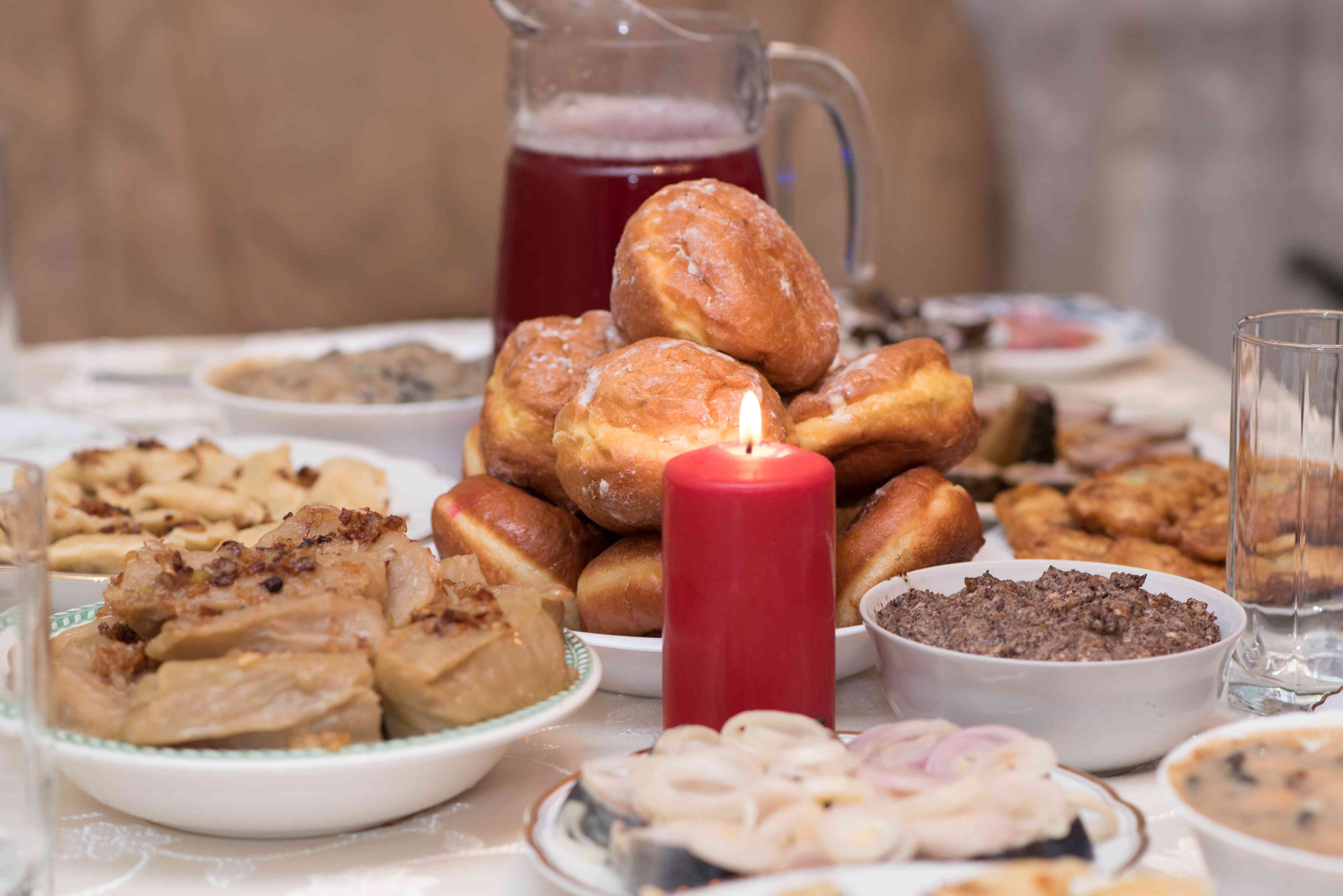 12-course Christmas dinner