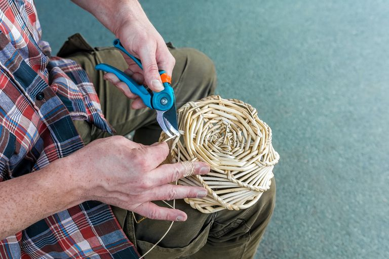 making a willow basket