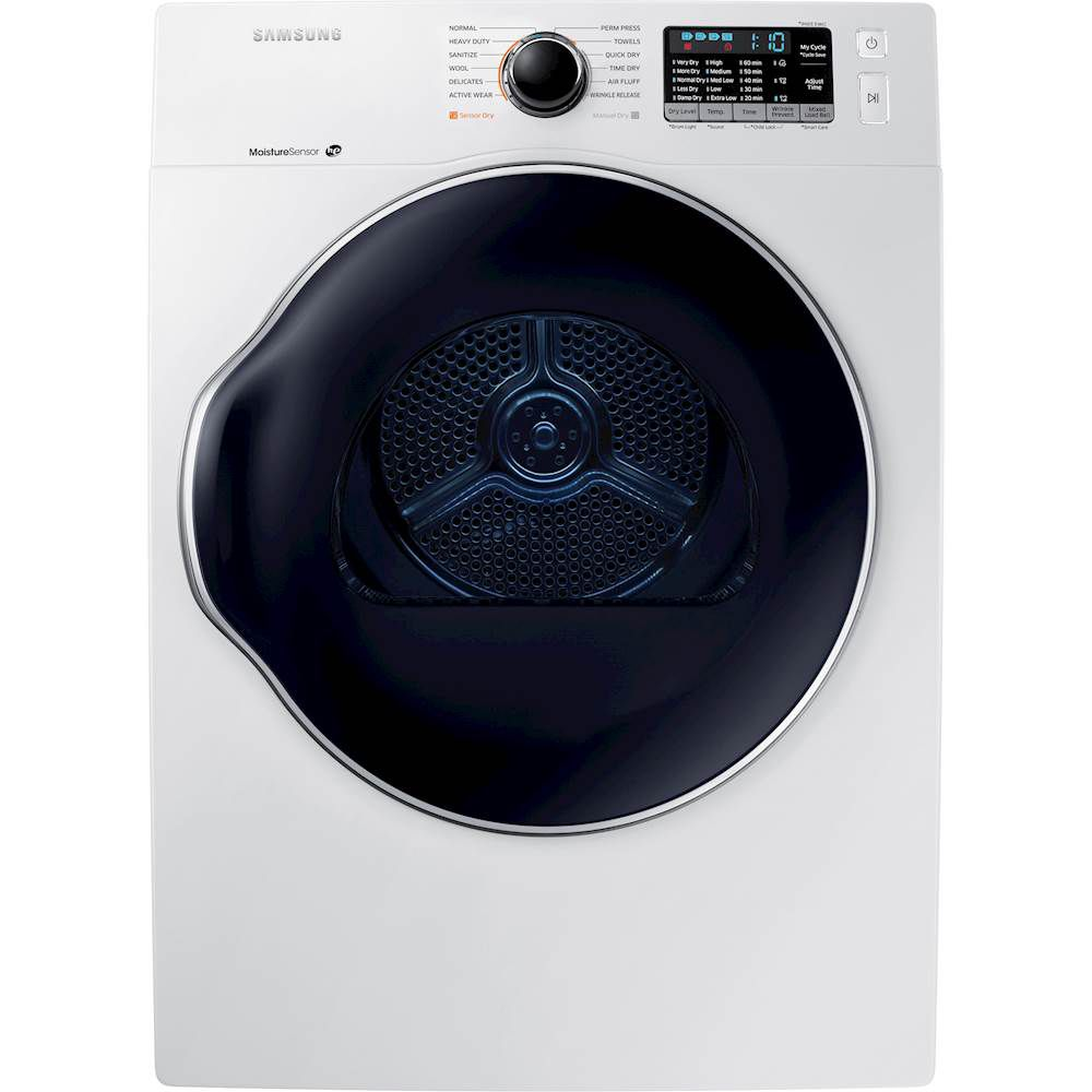 """Samsung - 4.0 cu. ft. 24"""" Ventless Heat Pump Electric Dryer with Smart Care - White"""