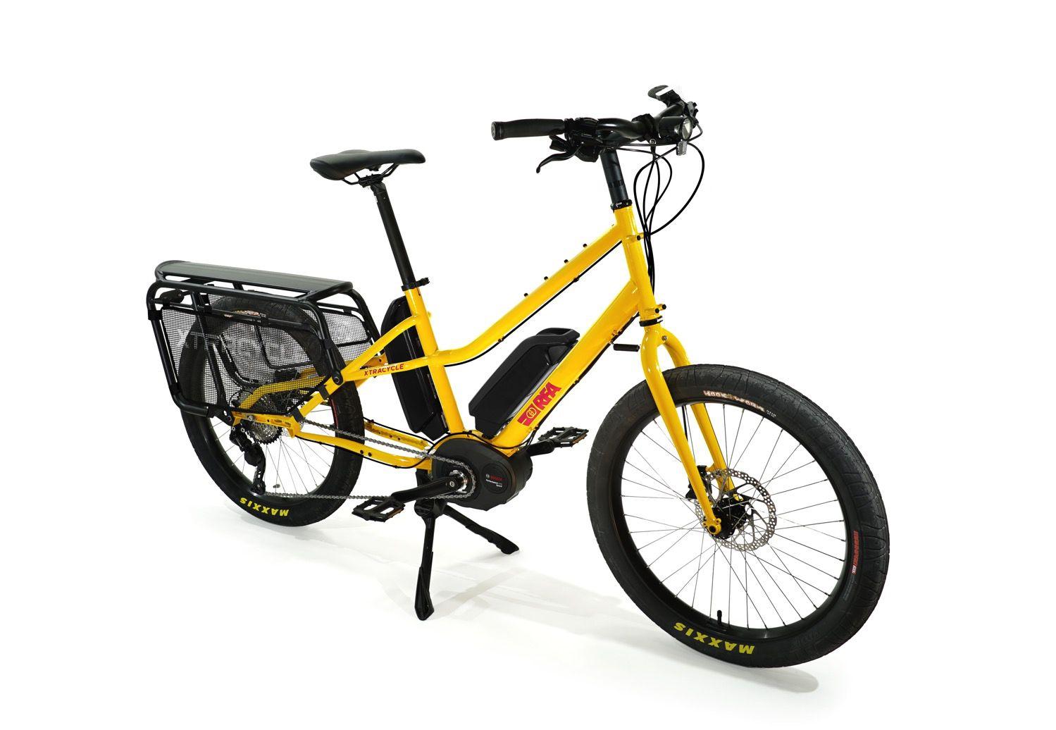 Yellow bike alone