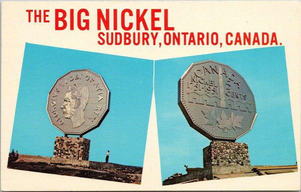 big nickel postcard