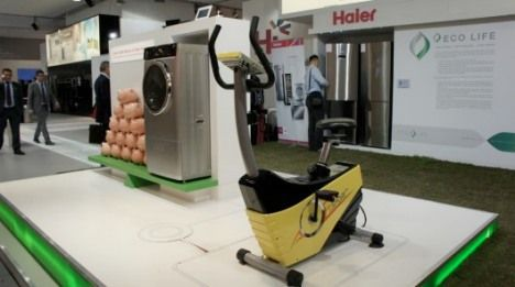 human-powered washing machine photo