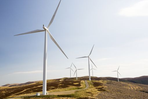 The Clyde Wind Farm in the Southern Uplands of Scotland near Biggar