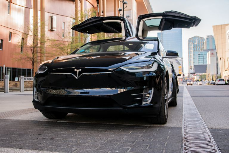 Earth Rides maintains a fleet of Teslas, like this Model X.