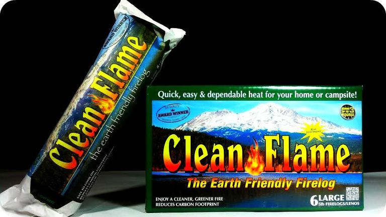 Estos leños de fuego limpios mantienen las cajas de productos encerados fuera de la corriente de desechos