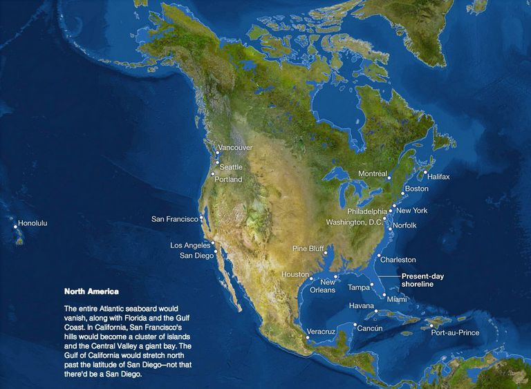 Us Map If Ice Caps Melt This Is What Earth Will Look Like if We Melt All the Ice