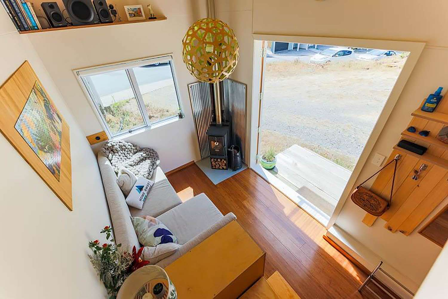 tiny house with movie loft Living Big In A Tiny House living room