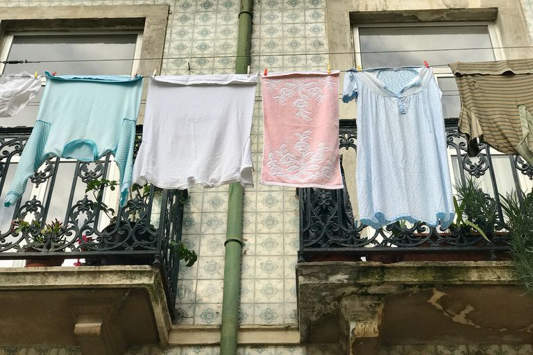 Clothes drying in Lisbon
