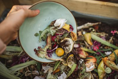 Making compost from leftovers