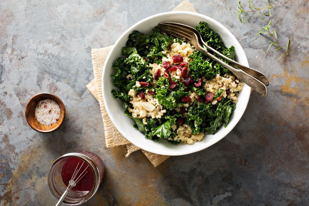 bowl of healthy grain salad