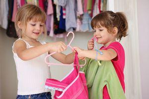 little girls in wardrobe