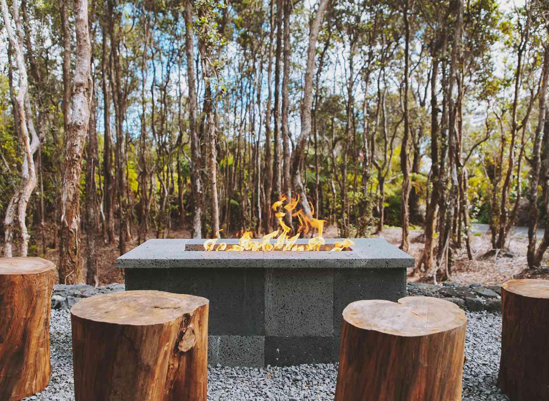 kuono cabin hawaii firepit