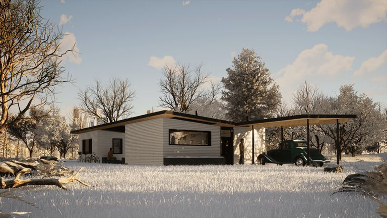 Angled front rendering