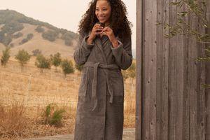 Woman in robe
