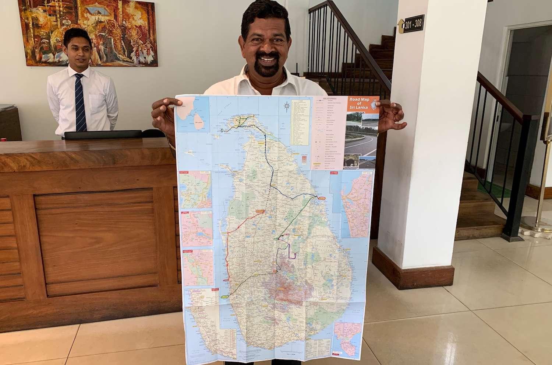 road map of Sri Lanka