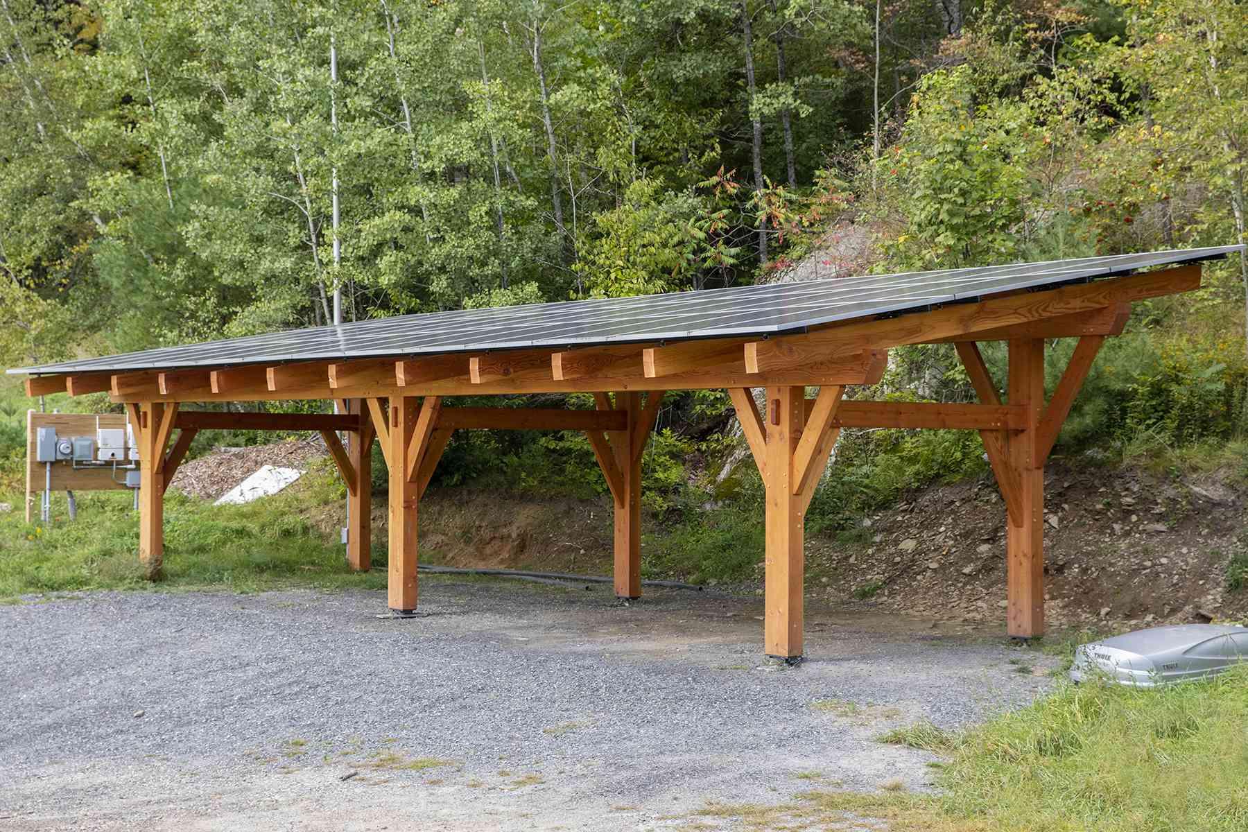 big solar canopy
