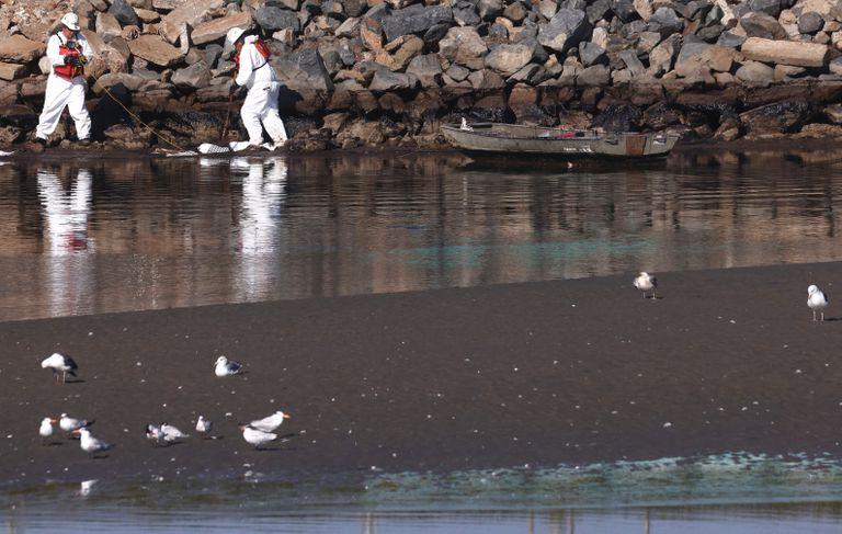Major Oil Spill Fouls Southern California Beaches