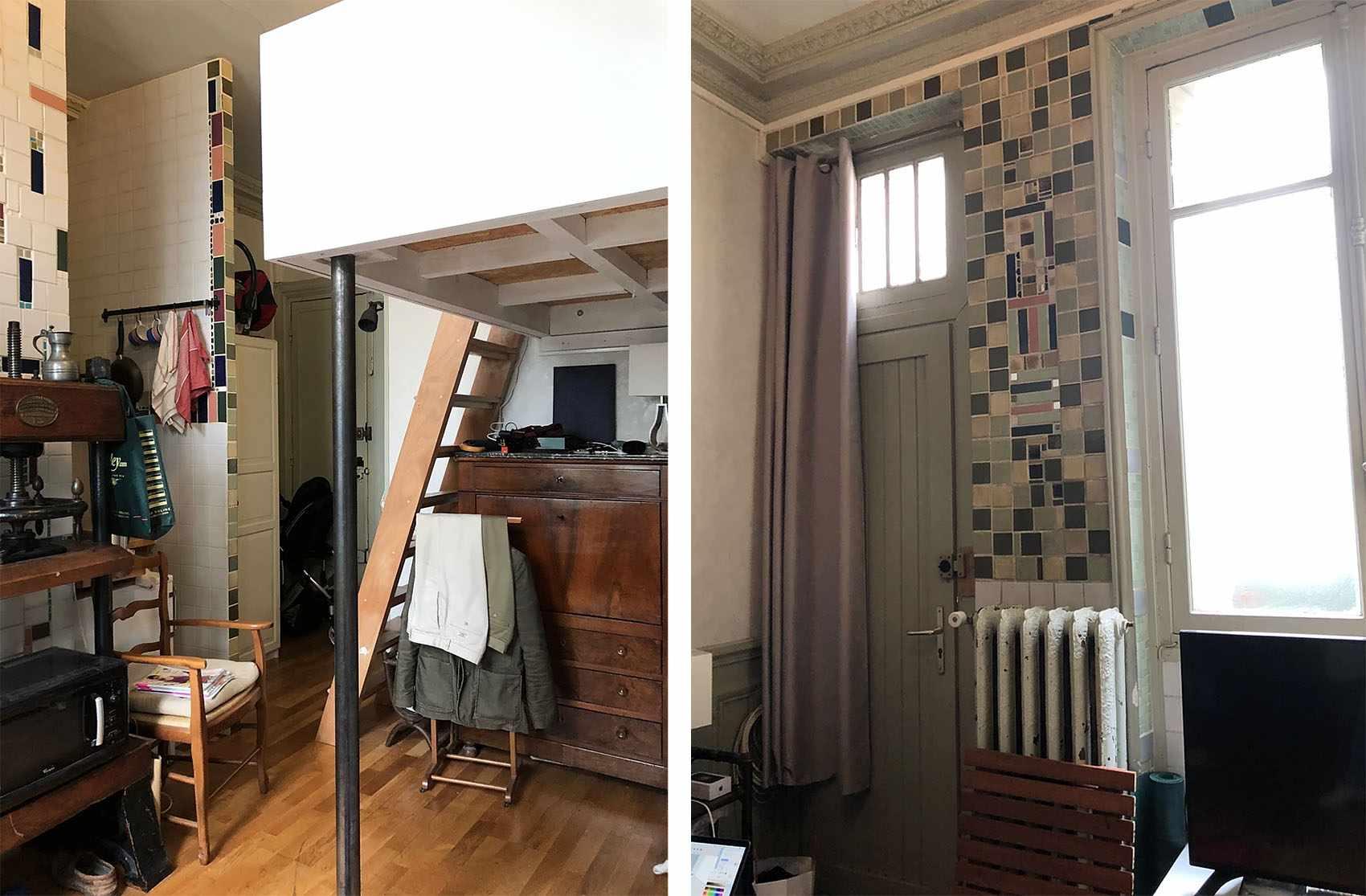 Boulevard Arago apartment renovation Studio Beau Faire previous layout