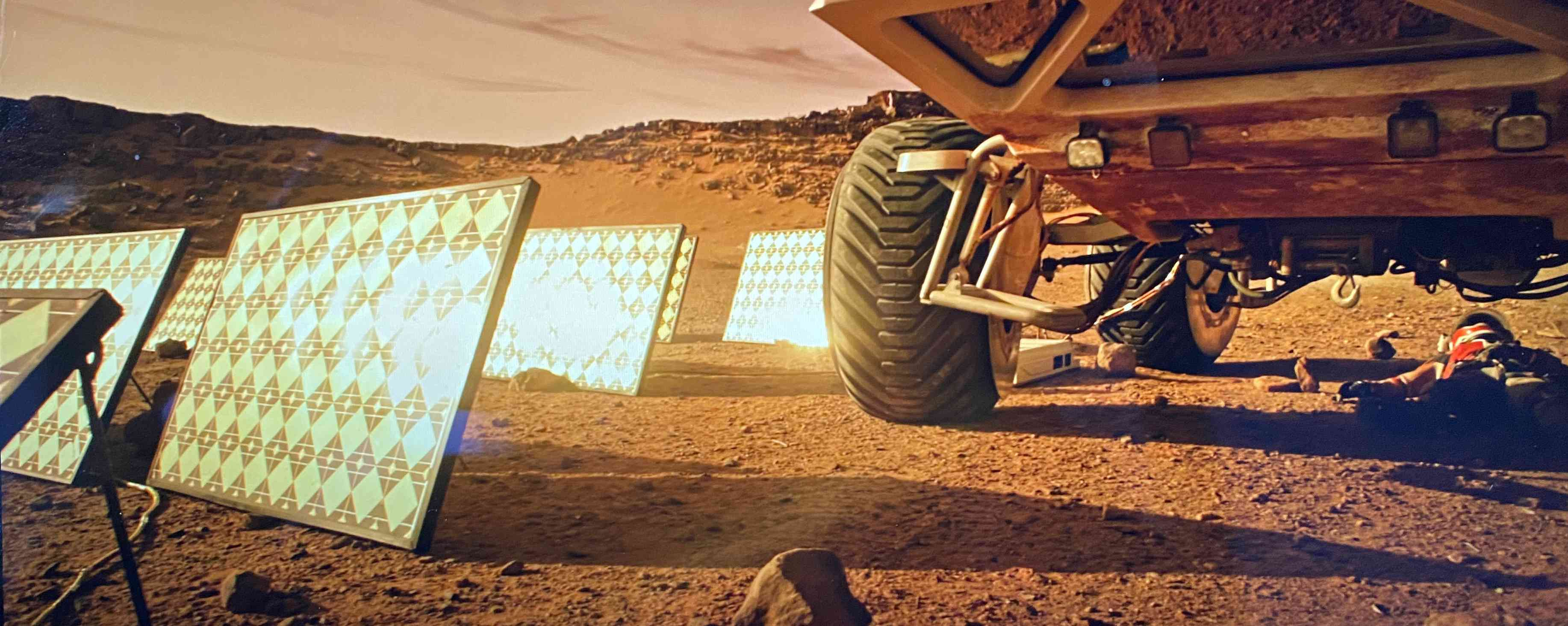 Charging rover on Mars
