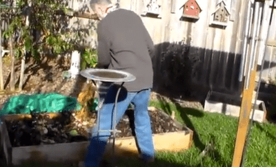 Composting in raised beds photo
