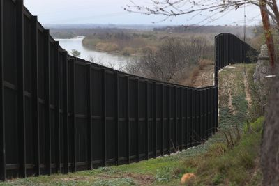 A border fence is seen near the Rio Grande which marks the boundary between Mexico and the United States on February 09, 2019 in Eagle Pass, Texas