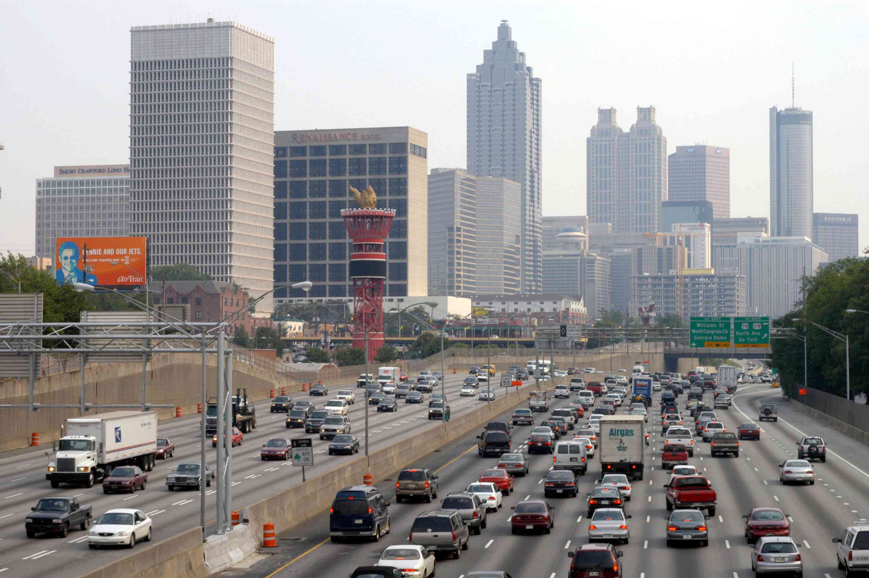 The route to downtown Atlanta that I took to work was usually snarled, causing me to spend about an hour commuting each day.