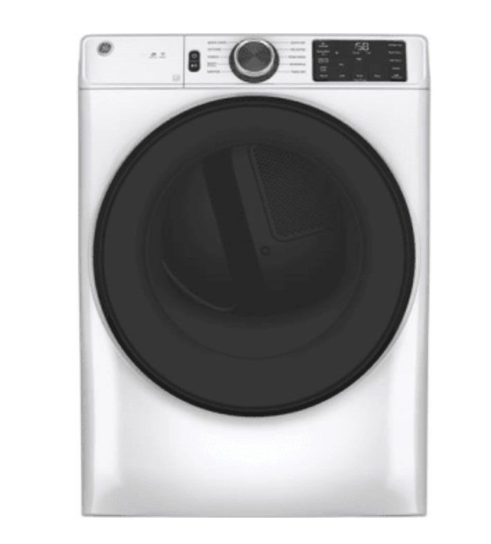 GE GFD55ESSNWW Front Load Electric Smart Dryer