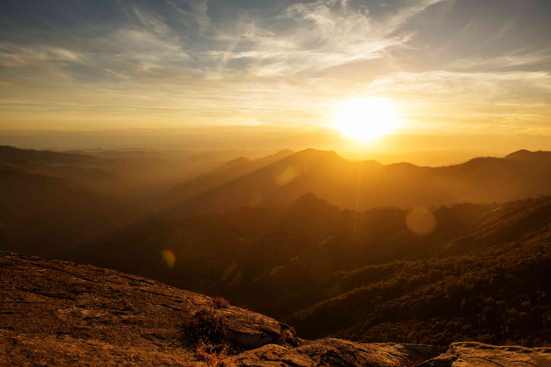 Sunset on Moro Rock, Sequoia National Park