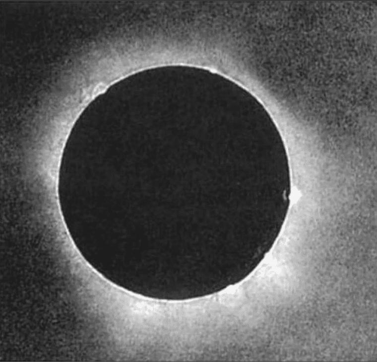 Esta es la primera foto conocida de un eclipse solar total