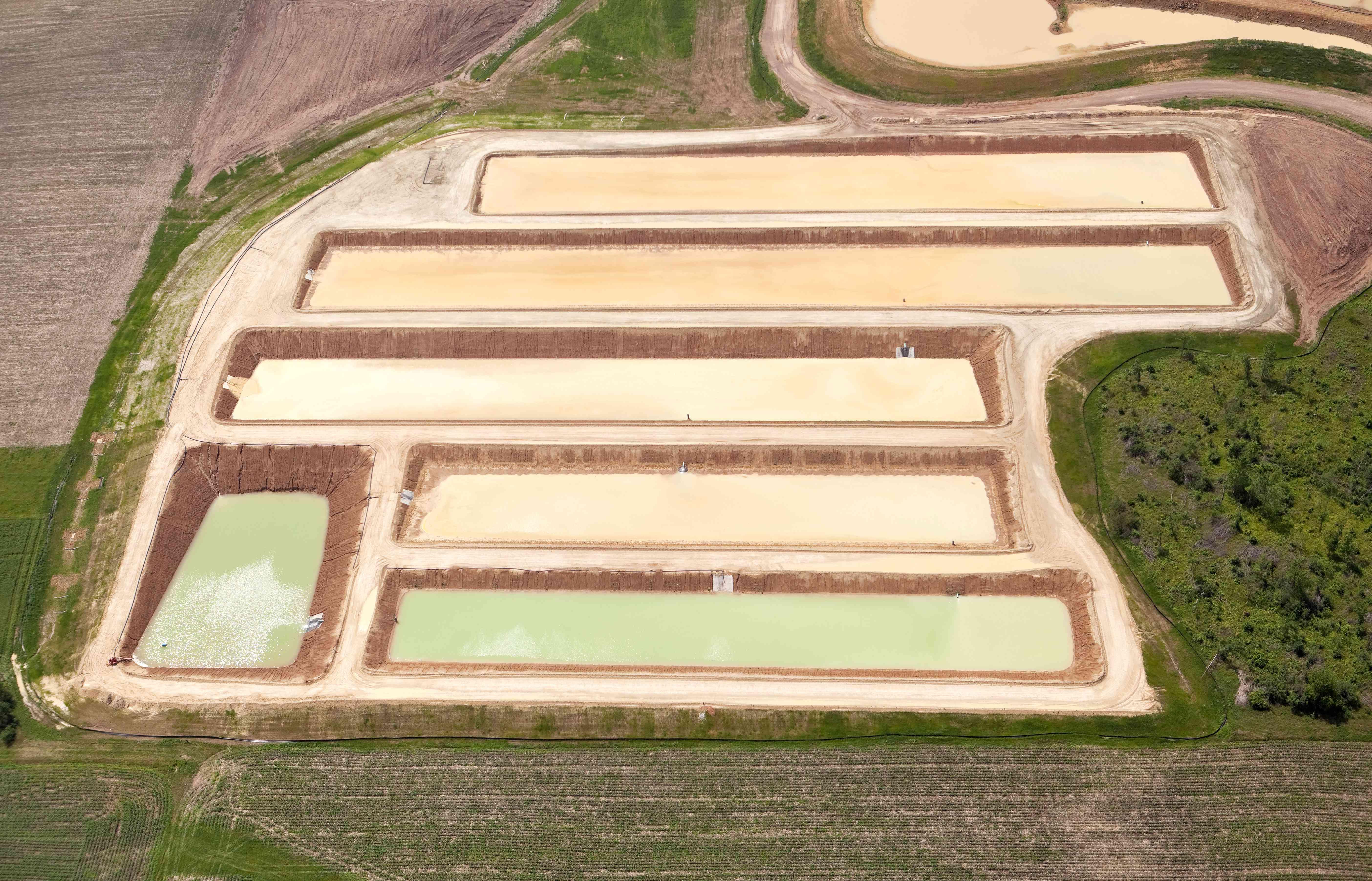 Frac Sand Washing Ponds at a Wisconsin Mine