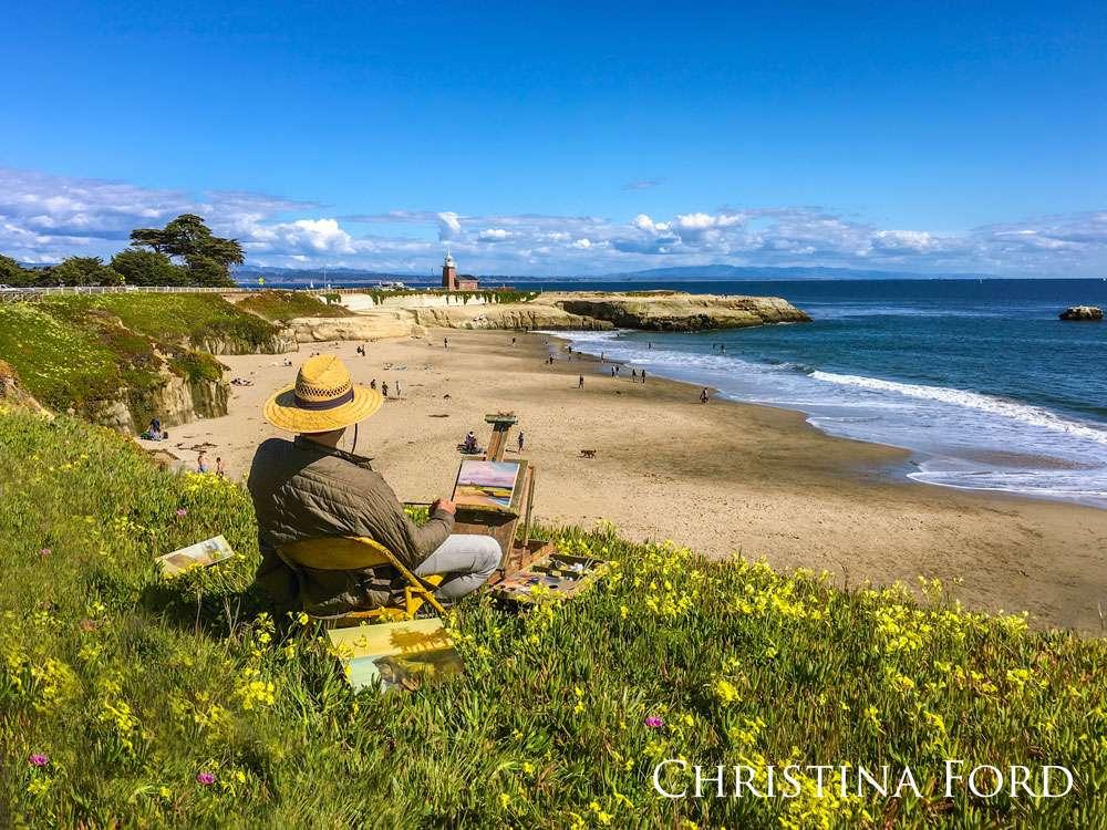 Artist at Lighthouse State Beach