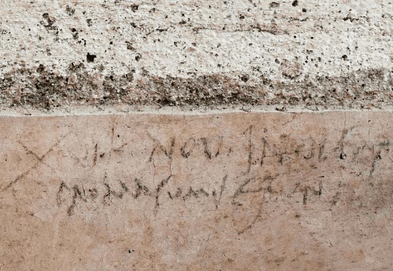 Graffiti antiguo revela la fecha real de la destrucción de Pompeya