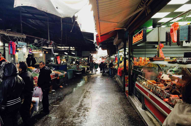 food market in Tel Aviv