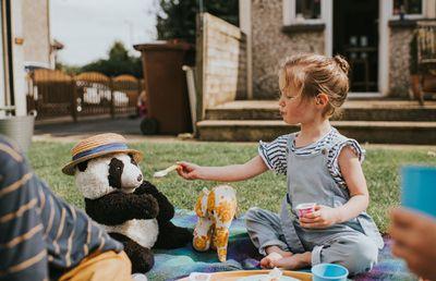 picnic with a teddy bear