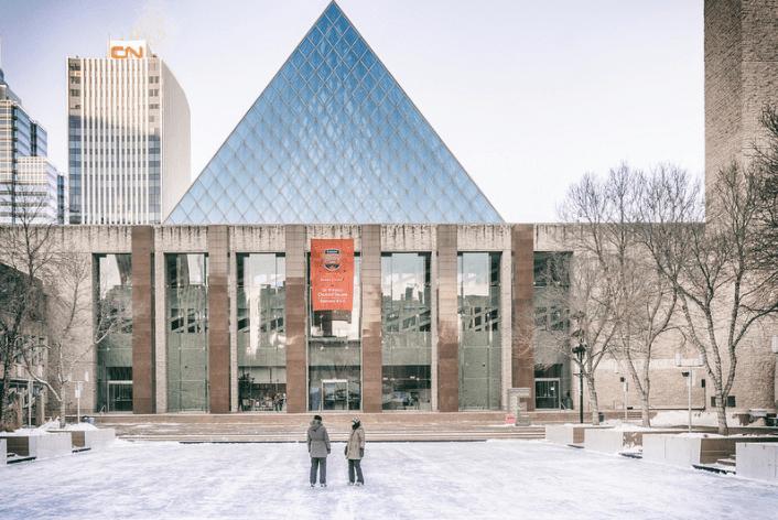 Ice rink at city hall, Edmonton, Alberta