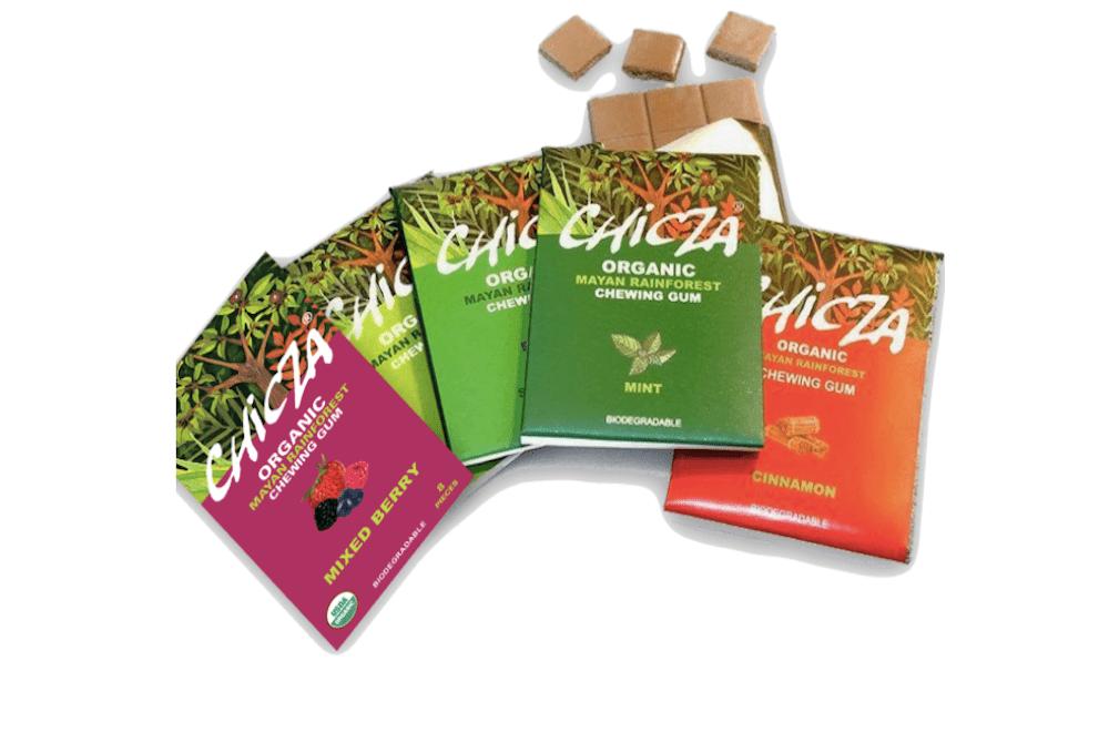 Chicza gum organic gum packages