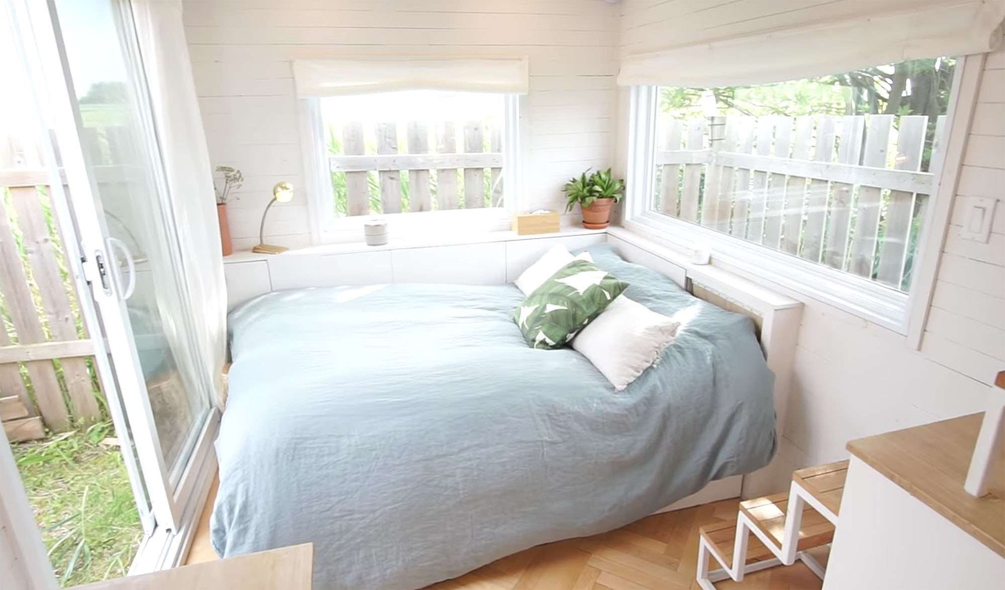 family of three diy tiny house transformer furniture guest bed