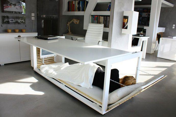 desk in use