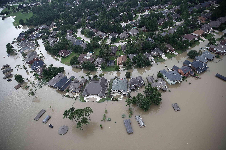 flooding from Hurricane Harvey in Houston