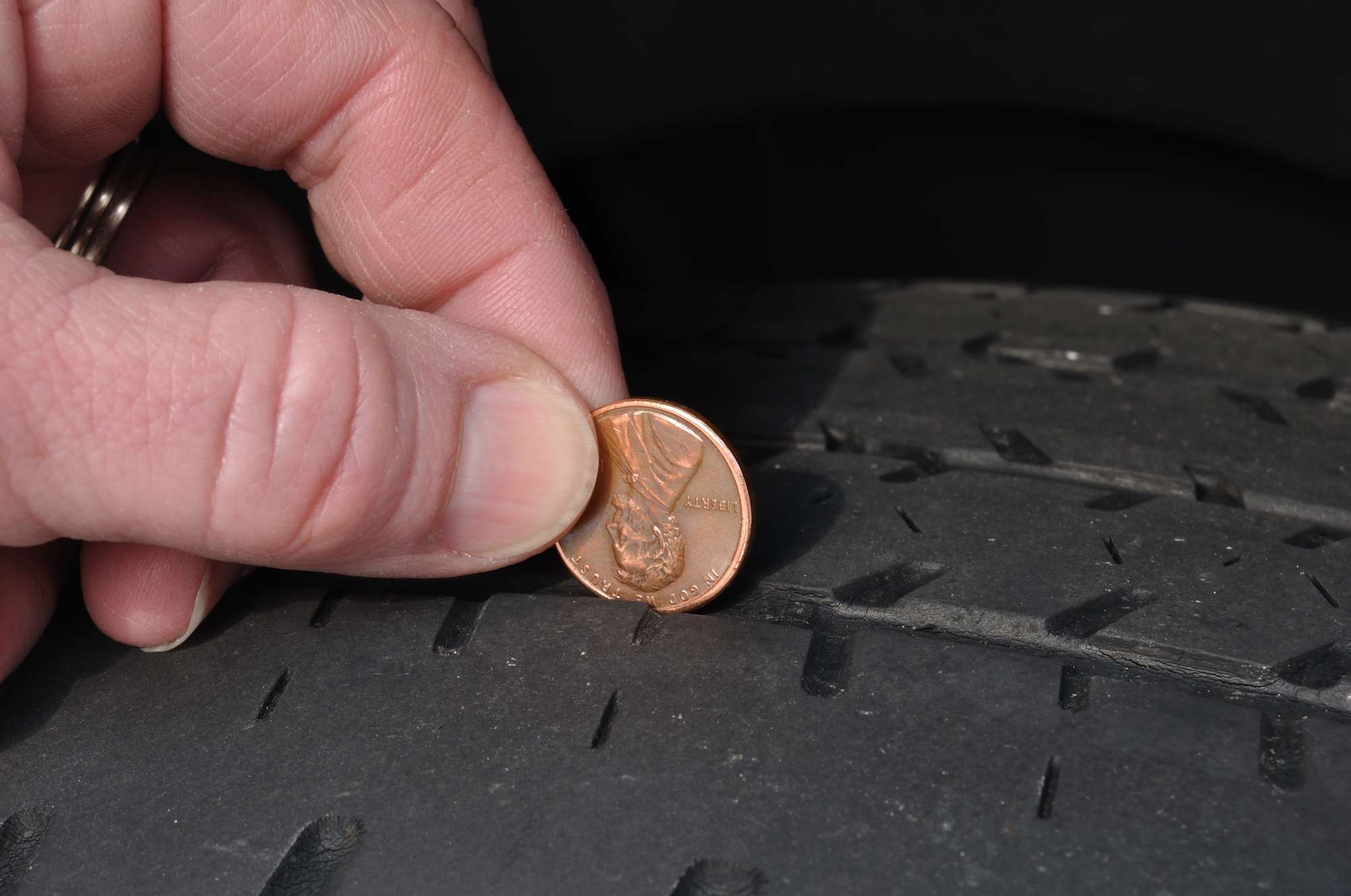 You can easily test your tire tread depth using a penny.