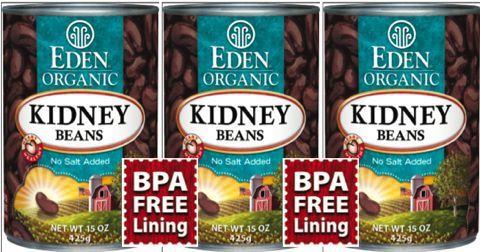 Eden BPA Free Beans cans photo