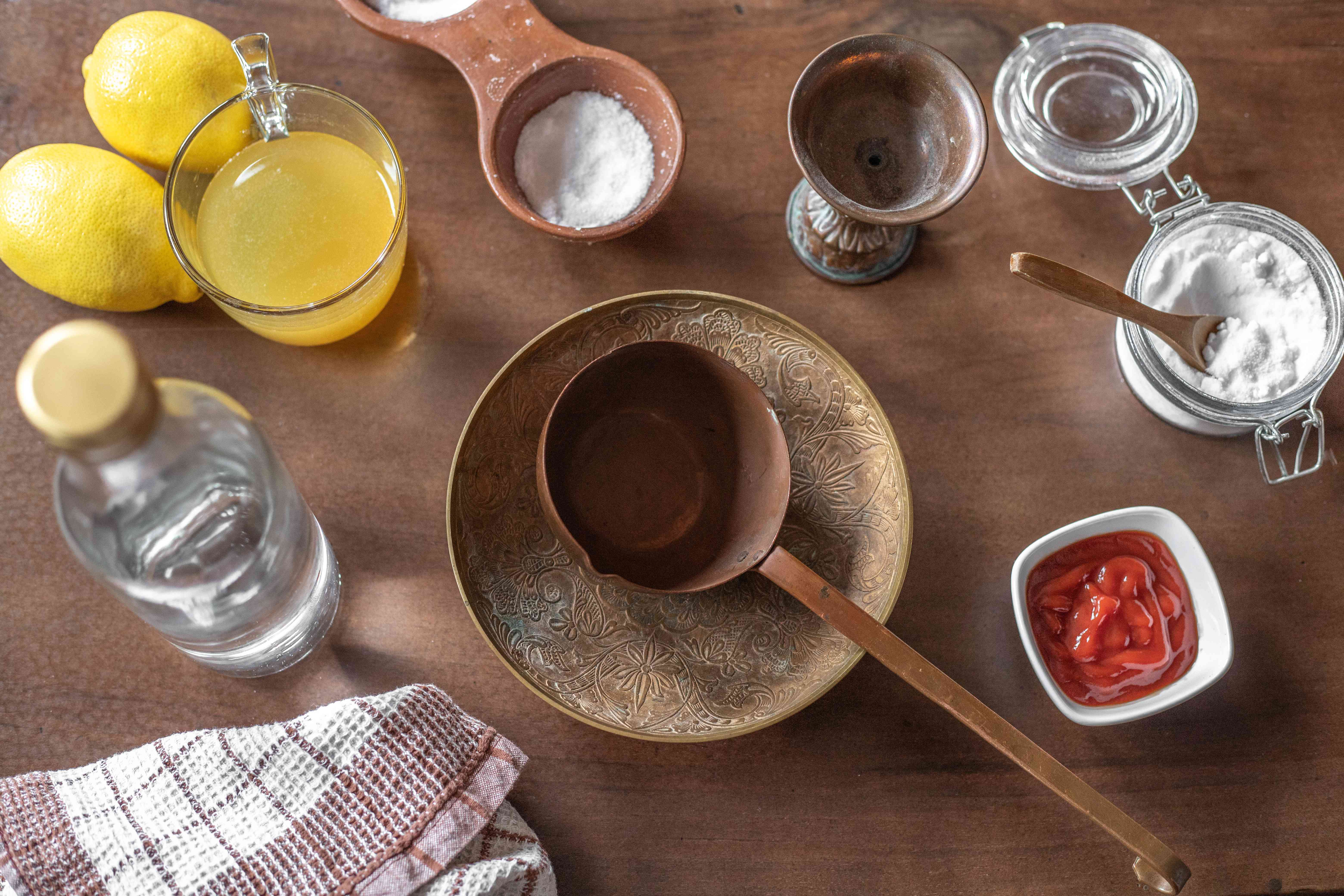 overview of DIY natural ways to clean brass lemon ketchup