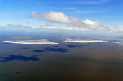 Two sand islands off the coast of Germany