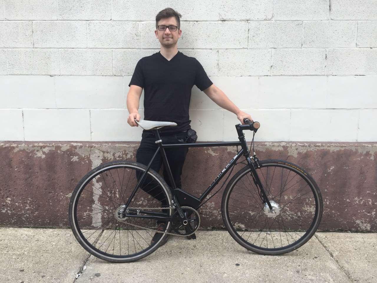 Troy Rank with bike in Buffalo