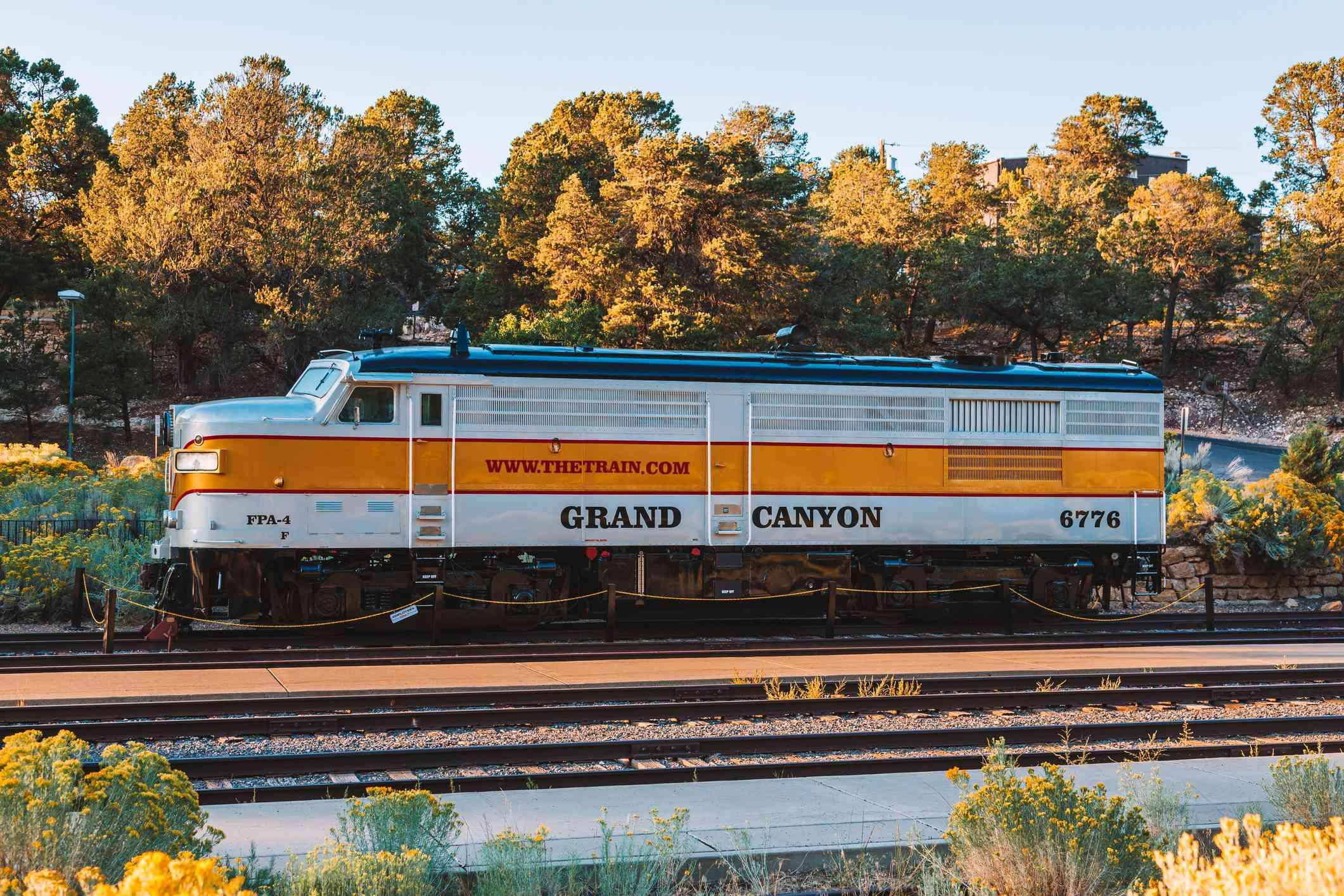 Grand Canyon Railway train at Grand Canyon Village