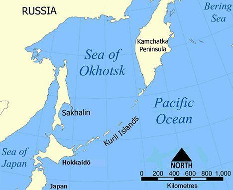 sakhalin island map image
