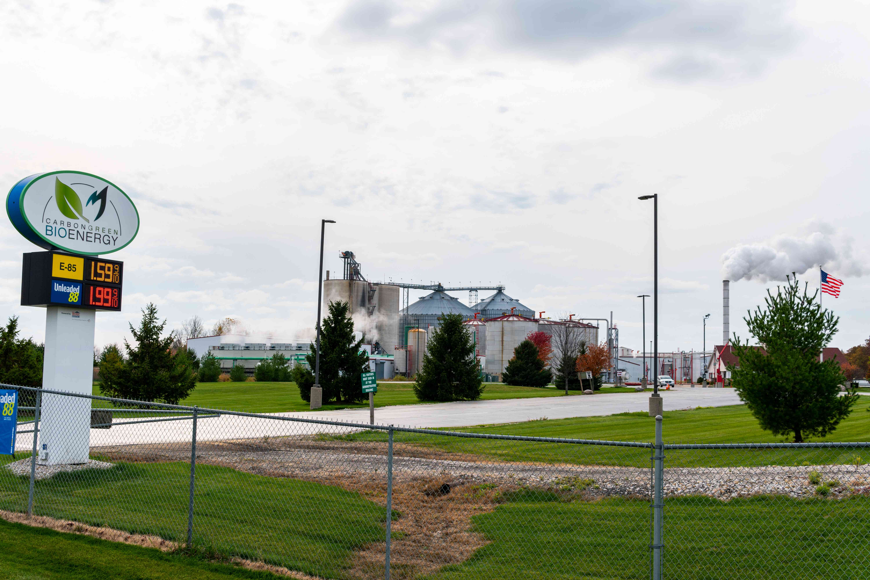 long shot of bioenergy power plant