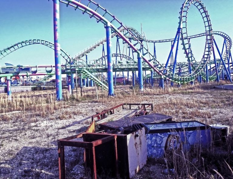 An abandoned Six Flags New Orleans