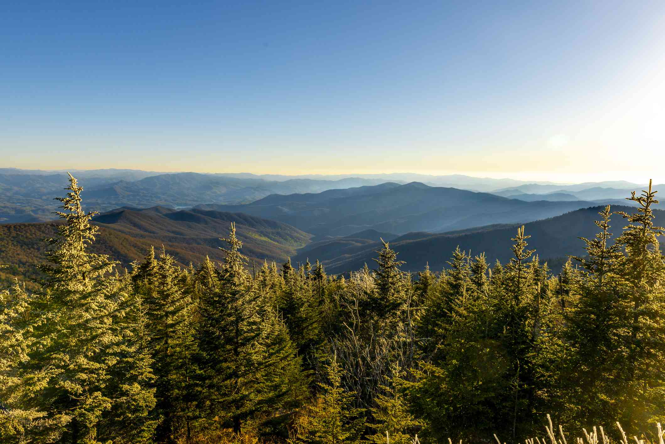 View of Great Smoky Mountains from Clingmans Dome