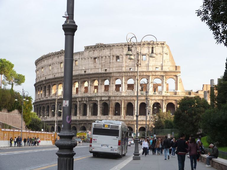 The Roman Coliseum in the city of Rome